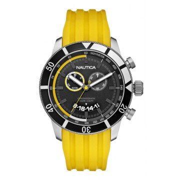 315d5c5e7db Relógio Nautica N17587G NSR 08 Sporty pulseira amarela - LusheStore